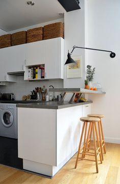 Departamento pequeño 2 ambientes con decoración nórdica vintage 7
