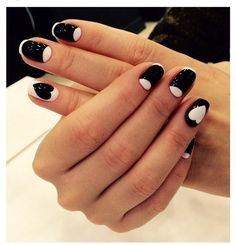 Whatever the idea of nail design was, if for its embodiments duo black and white gel coatings were selected, the...