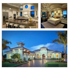 House Plan 75909 - Mediterranean Style House Plan with 4100 Sq Ft, 4 Bed, 5 Bath, 3 Car Garage Exterior Design, Interior And Exterior, House Construction Plan, House Plans With Photos, House Blueprints, Interior Photo, Beautiful Interiors, Living Area, Home Projects