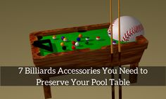 Get these billiards accessories to ensure your pool table is well protected and lasts longer! #BilliardsAccessories #PoolTableAccessories