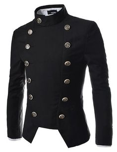 TheLees Mens Double Breasted Slim Fit Jacket Blazer $57.99 http://steampunkclothingsource.com/steampunk-clothing-men/thelees-mens-double-breasted-slim-fit-jacket-blazer