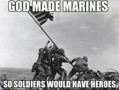 After months of investigation, the Marine Corps announced today that one of the Marines in the famous flag raising photo taken in 1945 after capture of Mount Suribachi in Iwo Jima is not who we thought he was. Marine Quotes, Usmc Quotes, Military Quotes, Military Humor, Military Love, Military History, Military Salute, Military Veterans, Quotes Quotes