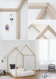 """Lit structure bois """"Bonnesoeur"""""""