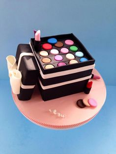 Make up box cake