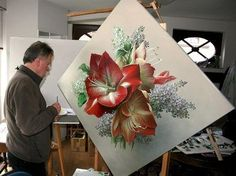 An artist painting flowers that look Artist Painting, Painting & Drawing, Art Periods, Open Art, Gifts For An Artist, Realistic Paintings, Pastel Art, Beautiful Artwork, Beautiful Flowers