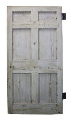 GEORGIAN STRIPPED PINE SIX PANEL DOOR - UK Architectural Heritage