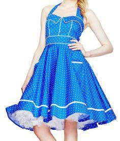 Hell Bunny Vanda ~ Rockabilly Pinup 50s Polka Dot Swing Dress Plus Size - $69.95