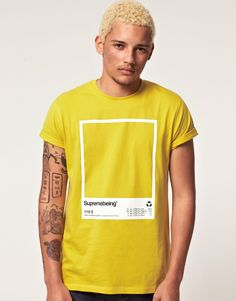 Supremebeing yellow tshirt.