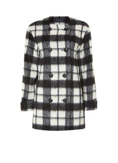 French Connection Lange jas in blend van wol en kasjmier • de Bijenkorf