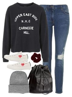 """""""Senza titolo #1149"""" by francesca-valentina-gagliardi ❤ liked on Polyvore featuring Topshop, Play Comme des Garçons, H&M and Miss Selfridge"""
