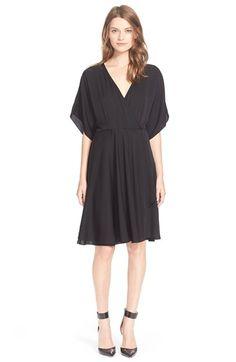 Milly Stretch Silk Kimono Wrap Dress