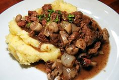 I wanted to share my mother's beef bourguignon (or beef Burgundy) recipe—one of my favorite things she makes. It's really actually a quite simple version that delivers fantastic results every time. I have tried many different bourguignon recipes throughou