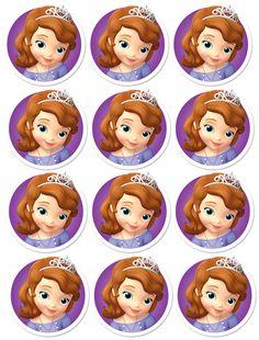 Prinsesse Sofia bursdag DIY bordkort