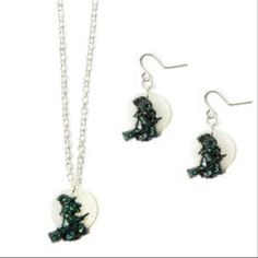 Claire's halloween earrings and necklace