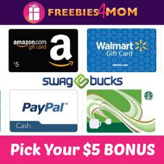 Perfect time to start earning #free gift cards with Swagbucks - Start with 100 Swag Bucks BONUS today SIGNUP CODE HERE --> http://freebies4mom.com/5bonussb