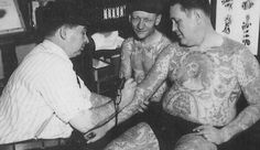 Bert Grimm (1900–1985), a Chicago-, the St Louis-based artist who moved to Long Beach, California to set up a shop at the Nu-Pike. His parlour was said to be the oldest continually running in the continental US and the place for sailors to get inked.[1] Sold the shop to Bob Shaw in 1970.