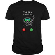 Scuba Diving shirt  The Sea TShirt phone call shirt