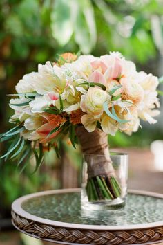 Fresh from the garden variety of flowers for your bridal bouquet.