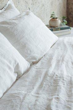 Linen bedding from Morrow Soft Goods