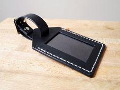 Handmade Leather Luggage Tag Honeymoon or Gap by KingsleyLeather