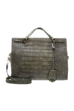 This dark grey 'Sofine' bag from Vero Moda can be worn in the crook of your arm and it also comes with a detachable over the shoulder strap. It has a zip closure across the top and also has a small zip up section to keep any small items.    Measures: 34 x 26 x 17cm   Crocodile Effect Bag by Vero Moda. Bags - Cross Body Highlands and Islands, Scotland, United Kingdom