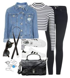 """Untitled #458"" by elly98 ❤ liked on Polyvore featuring Topshop, adidas, Proenza Schouler, H&M, Ray-Ban and Mudd"