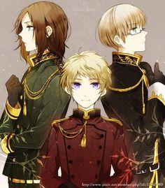 Hetalia (ヘタリア) - The Three Baltic States - Lithuania, Estonia, & Latvia