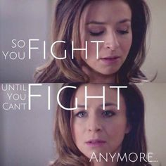 "Grey's anatomy- ""fight until you can't fight anymore"" Grey Anatomy Quotes, Greys Anatomy Owen, Grays Anatomy, Amelia And Owen, Caterina Scorsone, Amelia Shepard, Shades Of Grey, Private Practice, Tv Quotes"