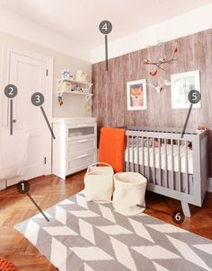Shop the Room: Maxs Modern Nursery I love the neutral tone and being able to add a feminine or masculine color once he/she is born!
