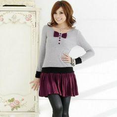 Autumn Fashion Double-Side Velvet Dress