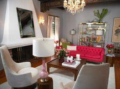 saloni roz kanapes