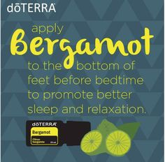 Bergamot Essential Oil feet at bed time
