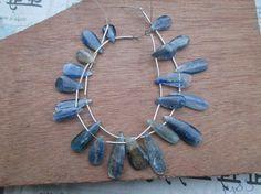 At Factory Price 8 Full strand AAA Blue Kyanite by JaiVyavsayBeads