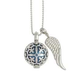 """SERAFINS """"Lilli"""" with angel wing #pendant. #Sterling silver."""