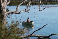 Fishing at Lake Illawarra