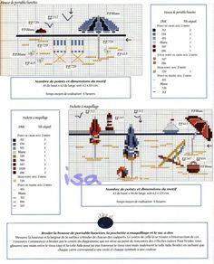 Gallery.ru / Фото #37 - De fil en Aiguille 14 - 2000 - Labadee Cross Stitch Sea, Cross Stitch Needles, Cross Stitch Flowers, Cross Stitching, Cross Stitch Embroidery, Embroidery Patterns, Cross Stitch Patterns, Stitch 2, Le Point