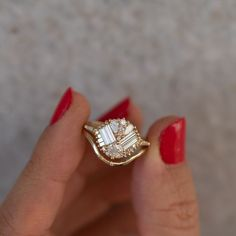 Jewelry Rings, Jewelry Accessories, Fine Jewelry, Jewellery, Jewelry Logo, Jewelry Ideas, Asscher Cut Diamond, Diamond Cuts, Gold Engagement Rings