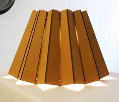 cardboard lamp // lámpara de carton