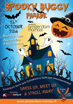 A5 Halloween Spooky Buggy Parade for the Amsterdam Mamas