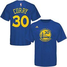 Men s Golden State Warriors Stephen Curry adidas Royal Blue Net Number  T-Shirt 60a59834886