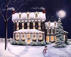 """""""On A Cold Winter Evening"""" Painting by Catherine Holman"""