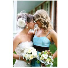 Bride and maid of honor.
