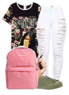 """""""Untitled #308"""" by darkskinn-awa ❤ liked on Polyvore featuring adidas and Vera Bradley"""
