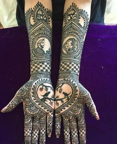 Bridal mehndi designs for every kind of bride Arabic Bridal Mehndi Designs, Wedding Henna Designs, Peacock Mehndi Designs, Engagement Mehndi Designs, Indian Mehndi Designs, Back Hand Mehndi Designs, Mehndi Designs Book, Modern Mehndi Designs, Mehndi Designs For Girls