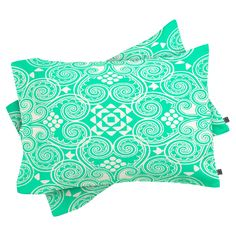 Budi Kwan Decographic Mint 2 Piece Pillow Sham by DENY Designs - 15263-PILKKT