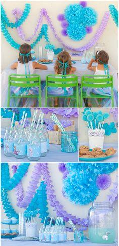 Azucarillos de Colores: La fiesta de Frozen (las dos!)