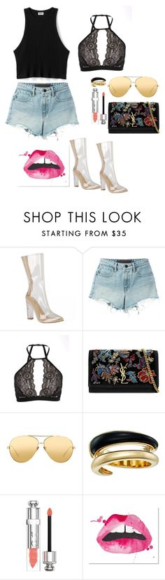 """wendahouse"" by natalieordnz on Polyvore featuring T By Alexander Wang, Cosabella, Yves Saint Laurent, Linda Farrow, Michael Kors and Christian Dior"
