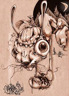 Greg Simkins / Craola  reminds me of Alice madness returns