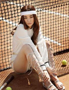 Stephanie Lee for Singles Korea April 2015 tennis #TennisPlanet www.tennisplanet.com