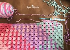 Have you tried planned color pooling? Let me tell you, it does work! Here I am using Caron Simply Soft Stripes yarn and the granny stitch to create this rea Manta Crochet, Knit Or Crochet, Crochet Afghans, Crochet Hooks, Crochet Stitches Patterns, Crochet Designs, Pooling Crochet, Crochet Baby Blanket Tutorial, Caron Yarn